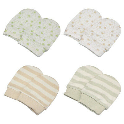 1/4 pairs Anti Scratch Mittens Newborn Baby Glove Infant Soft Cotton Handguard