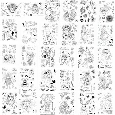 Nature Fantasy Animals Marine Organism Clear Stamps Seal Stencil Embossing Craft