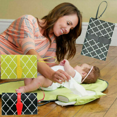 Baby Nappy Bag Diaper Changing Change Clutch Mat Foldable Pad Handbag Wallet