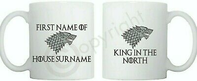 Game of Thrones personalizedStarkMug Cup- King in the North