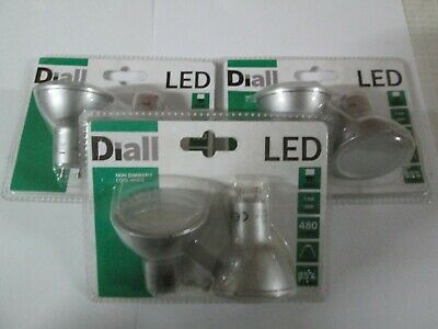 25w Diall GU10 144lm LED Reflector Light Bulb 2w Warm White Pack of 3