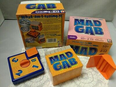 Mad Gab - Mattel Adult Party Game - Ages 10+, 2-12 Players Open Box GUC