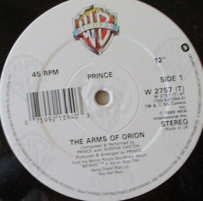 """PRINCE - The Arms of Orion ~ 12"""" Single"""