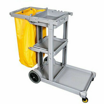 Janitorial cleaning cart jolly trolley with 60L bag hotel/office/shopping centre