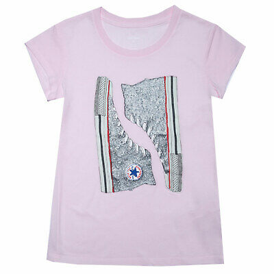 Infant Girls Converse Glitter Chucks T-Shirt in Pink