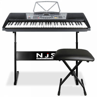61 Key Full Size Digital Electronic Keyboard Kit Inc Stand, Stool and Headphones