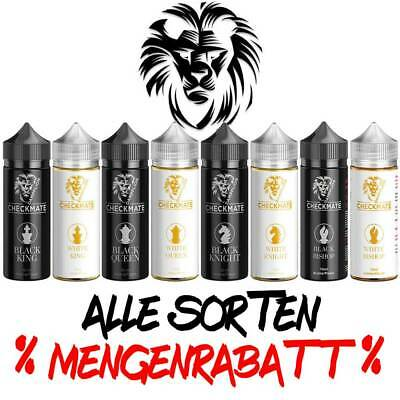 Aroma Dampflion Checkmate White Black King Queen Knight Bishop 10ml DIY 120ml