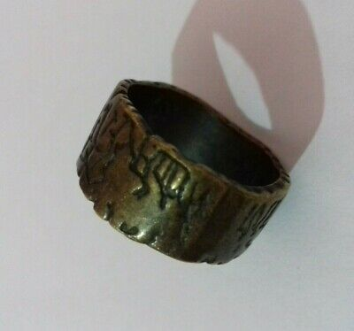 Ancient Rare Extremely Roman Bronze Ring Legionary Authentic Artifact stunning
