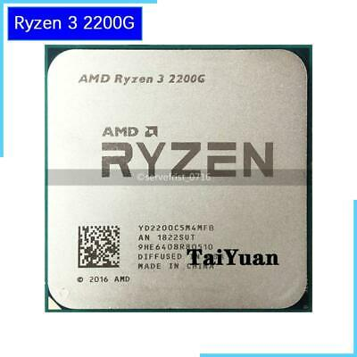 AMD Ryzen 3 2200G R3 2200G 3.5 GHz Quad-Core CPU Processor 65W YD2200C5M4MFB
