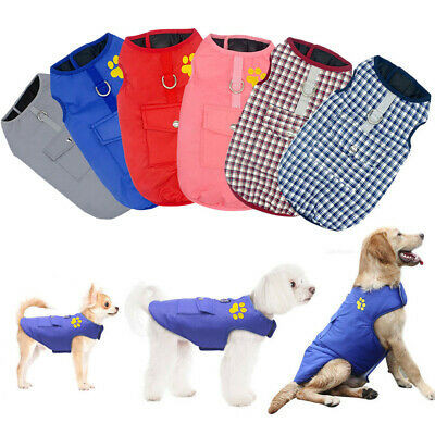 Waterproof Warm Winter Quality Padded Coat Jacket Clothes Small/ Large Dog Pet