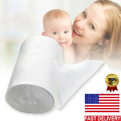100 Sheet/Roll Flushable Bamboo Nappy/Diaper Liners Premium Cloth/disposable US