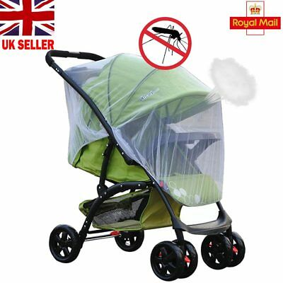 Baby Infant Stroller Pushchair Pram Mosquito Fly Insect Net Mesh Buggy Cover SI
