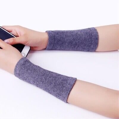 Cashmere Knit Bracer Solid Gloves Color Arm Wrist Warmers Winter Unisex Mittens