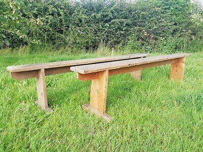 Vintage Old French rustic Wooden Bench table hallway 1 available