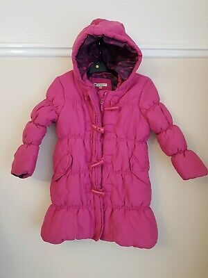 John Lewis Girls Pink Long Winter Coat Padded Quilted Puffa Jacket Age 5 Years