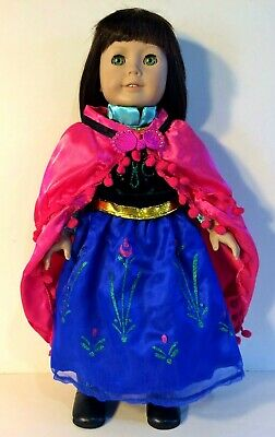 "Frozen ANNA DRESS CAPE VELVET fits 18"" AMERICAN GIRL Doll  ~ PRINCESS CLOTHES"