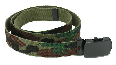 Kids Reversible Camo Army Belt. Boys Girls Childrens Olive Green Camouflage