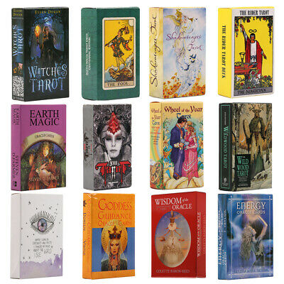 Gothic Magic Tarot Deck Rider-Waite Oracle Card Retro Fate Telling Cards Gifts