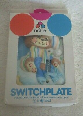 Vintage Dolly Switchplate Cover Bear Nightime NOS New