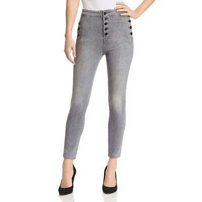 Nobody Womens Distressed High-Rise Day to Night Straight Leg Jeans BHFO 2405