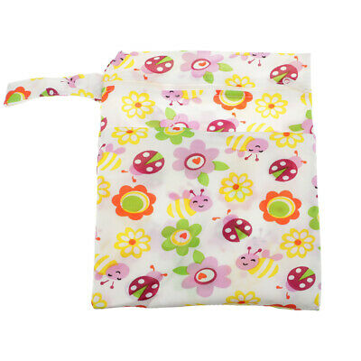 Waterproof Zip Baby Infant Nappy Diaper Storage Bag Wet Dry Cloth Washable Pouch
