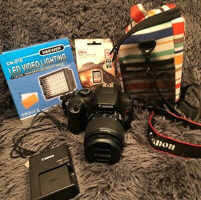 Canon 1159C003 EOS Rebel T6 18-55mm Lens DSLR Camera with 32GB, LED, and Case