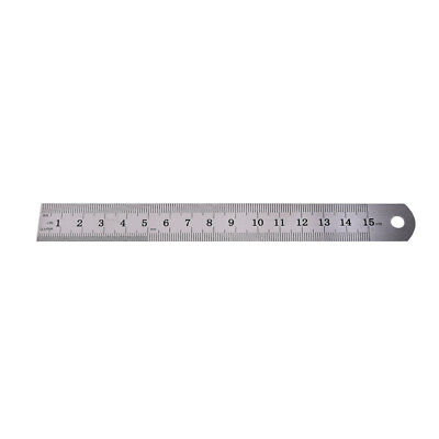 1PC Metric Rule Precision Double Sided Measuring Tool  15cm Metal Ruler L$