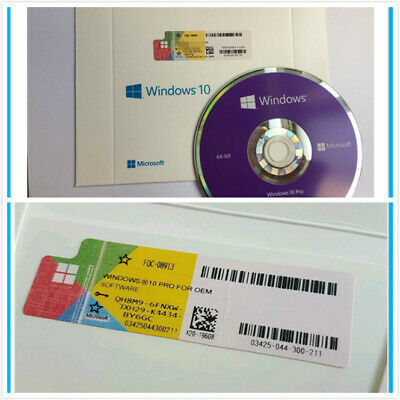 Microsoft Windows 10 Pro Activation Code 32/64 Bit Genuine Key W/ Hdd**