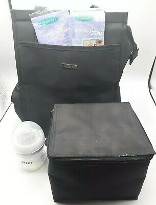 Ameda Insulated Breastmilk Breastfeeding Lot Travel Bag Bottles Lansinoh Avent
