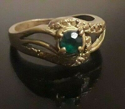 Ancient Viking Ring Bronze Artifact Very Rare Stunning Unique Old Amulet Stone