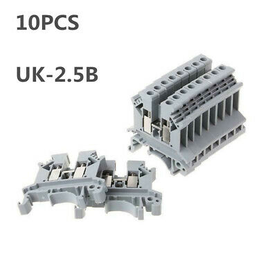 10xUK-2.5B Terminal Block Screw Application PCB Din Rail Terminal Connector