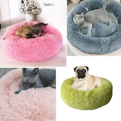 Dog/Cat Comfy Calming Bed Pet Beds Round Super Soft Plush Marshmallow Puppy Beds
