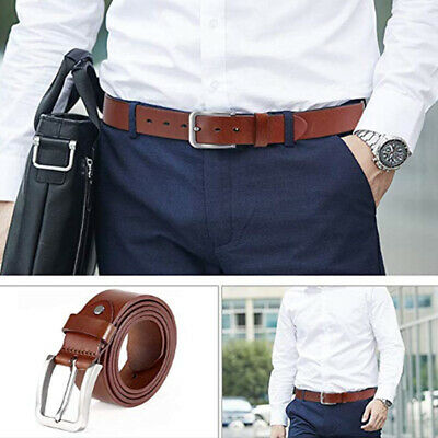 New Quality Genuine Full Grain Cow Leather Men's Jeans Belt Australian Stlye