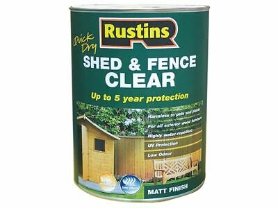 Quick Dry Shed and Fence Clear Protector 5 Litre RUSECWP5L
