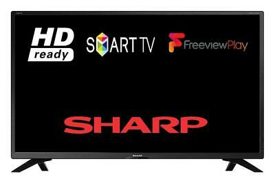 "Sharp 32AC6KE 32"" Smart LED TV HD Ready Freeview Play WIFI USB HDMI Black"