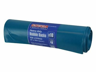 Blue Heavy-Duty Rubble Sacks (10) FAIBAGRS10H