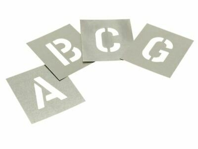 Set of Zinc Stencils - Letters 2.1/2in STNL212
