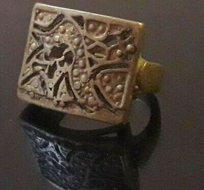 Antique Ancient Viking Bronze Ring Artifact Old Museum Quality Very Rare Unique