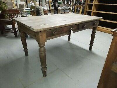 Reclaimed Antique 19th Century Victorian Pine Farmhouse Table - Warwick Rec