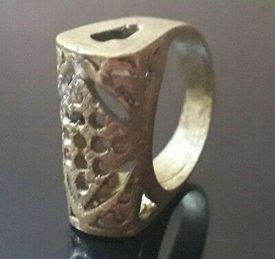Ancient Roman Ring Bronze Legionary Old Artifact Medieval Very Rare Wearable