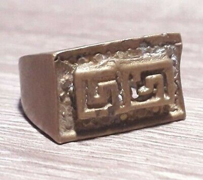 Ancient Viking Ring Artifact Museum Quality Bronze Very Rare Old Lake Ladoga