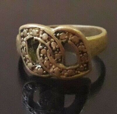 Antique Very Rare Ancient Viking Bronze Unique Ring Old Artifact Museum Quality