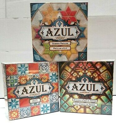 AZUL + STAINED GLASS OF SINTRA + SUMMER PAVILION Board Game New Sealed