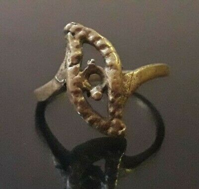 Amulet Ancient Viking Bronze Ring Antique  Artifact Pendant Very Rare Old Unique