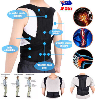 Magnetic Posture Corrector Lumbar Lower Back Support Shoulder Brace Pain Relief