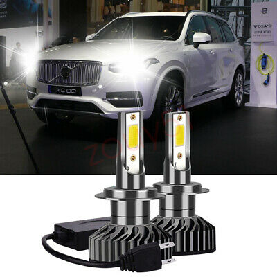 H7 100W COB LED Headlight Bulbs Pair 8000L Canbus For Volvo XC60 2008-Onwards