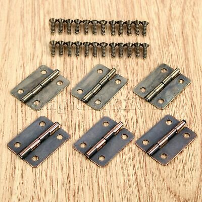 10pcs 25*18mm Classic Cabinet Hinges Wooden Box Door Hinge Decoration Hardware