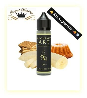 Eliquid BANANA DELIGHT Alchemy Art Barcelona E-Liquids - 50ml - 0mg- Vape