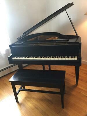 Antique Art Deco period Petit Grand piano by Georg Bent for Crown Piano Co.