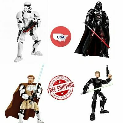 Star Wars Buildable Action Figures Toy Darth Vader Stormtrooper Chewbacca